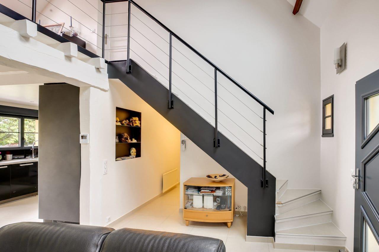 rénovation intérieure maison escalier mise en peinture Vernon