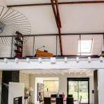 rénovation intérieure maison mezzanine salon parement pierre peinture Vernon