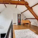 rénovation intérieure maison aménagement mezzanine garde-corps peinture bureau Vernon