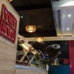 rénovation restaurant asiatique comptoir identité visuelle spots encastrés Grenoble