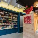 rénovation restaurant asiatique présentoir mur épicerie Grenoble