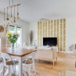 rénovation maison peinture parquet contrecollé papier peint poêle à bois Bron