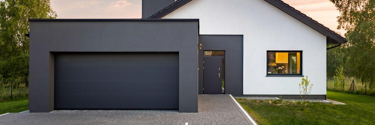 maison moderne garage toit plat