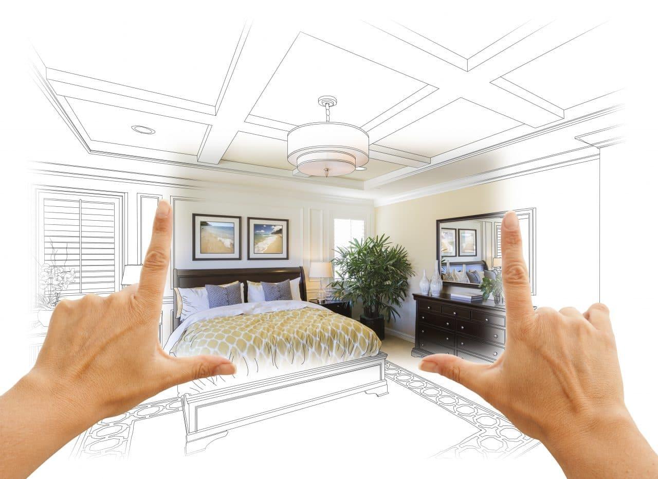visualisation 3D rénovation chambre