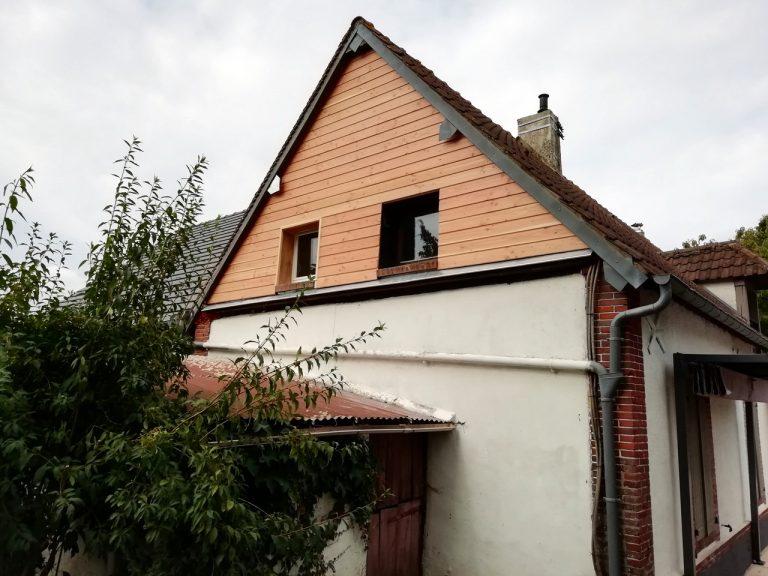 Création d'un bardage extérieur à Courdemanche (27)