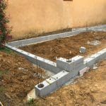 chantier pool house pendant travaux