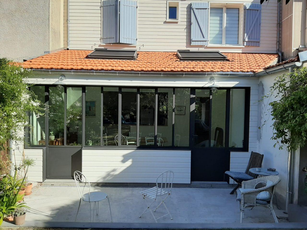 extension d'une maison à Nantes : façade de l'extension