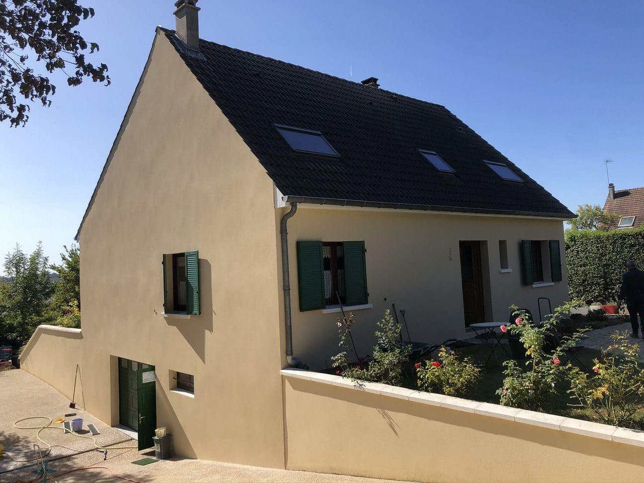 Ravalement de façade à Thorigny-sur-Marne après travaux