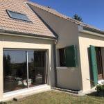 Ravalement de façade à Thorigny-sur-Marne : côté jardin