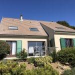 Ravalement de façade à Thorigny-sur-Marne : vue générale de la maison côté jardin