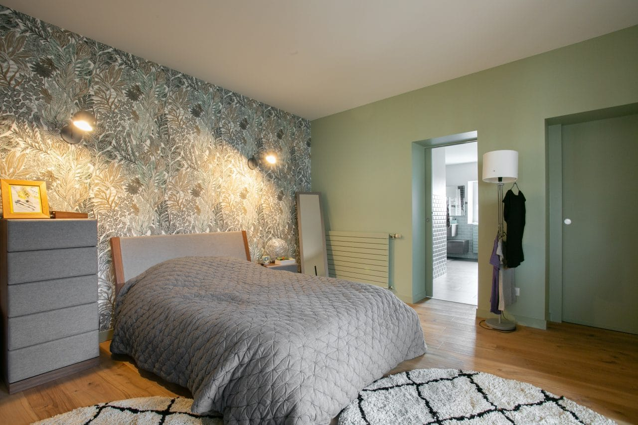 rénovation loft Niort chambre