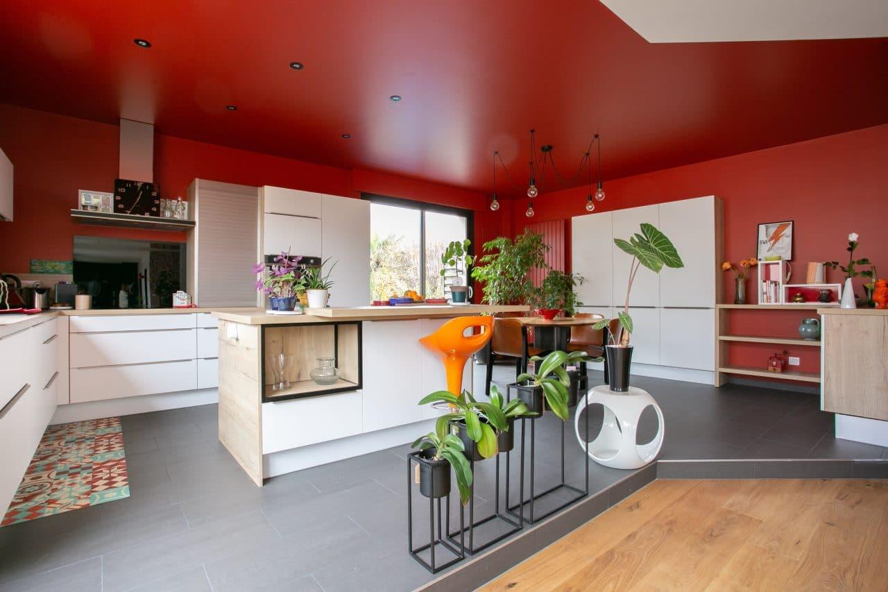rénovation loft Niort peinture cuisine