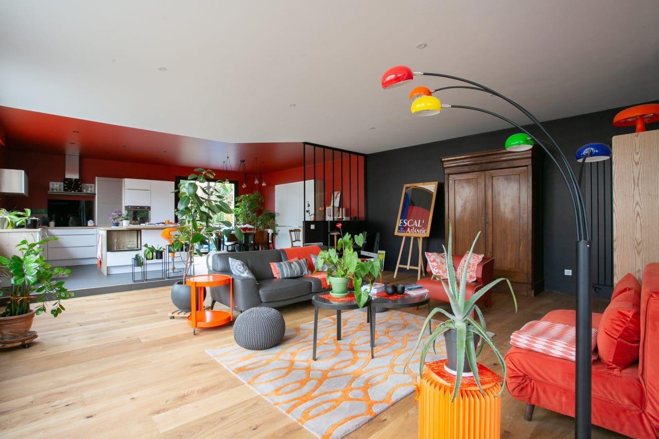 rénovation loft Niort pièce de vie