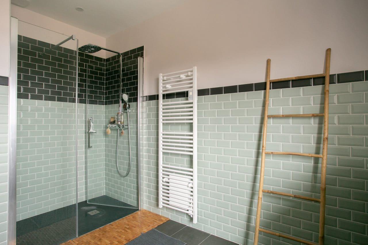 rénovation loft Niort salle de bain douche italienne