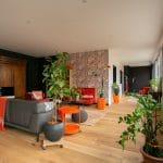 rénovation loft Niort séjour + entrée