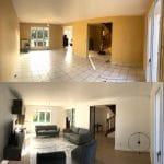 rénovation d'une maison à Bussy-Saint-Georges : avant / après salon