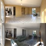 rénovation d'une maison à Bussy-Saint-Georges : avant / après séjour