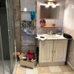 rénovation salle de bain avant travaux douche lavabo Harnes