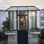 Remplacement marquise verrière d'extérieur sas entrée Vaires-sur-Marne