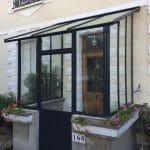 Remplacement marquise verrière d'extérieur atelier gris anthracite Vaires-sur-Marne