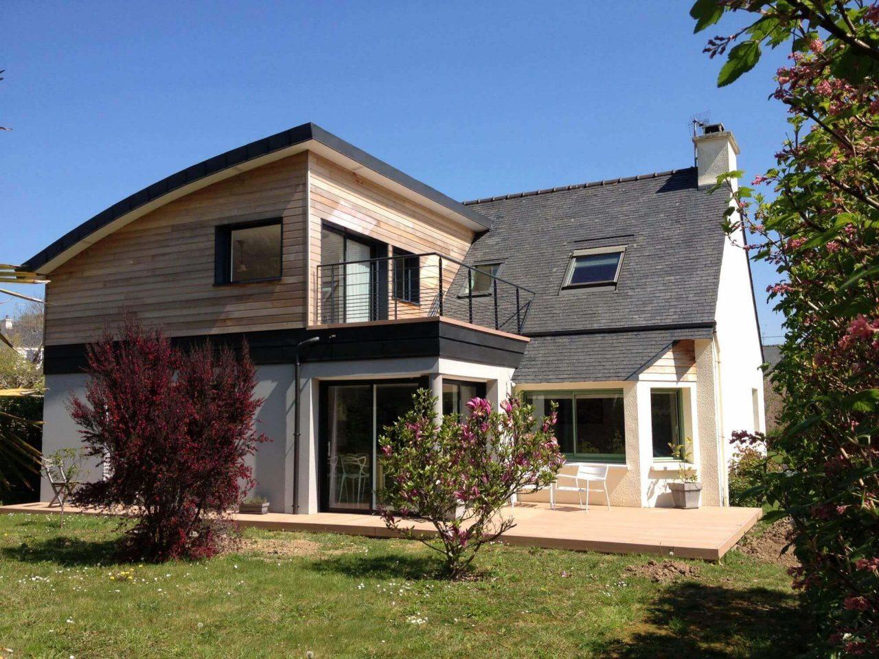 agrandissement de maison à Montpellier par surélévation en bois