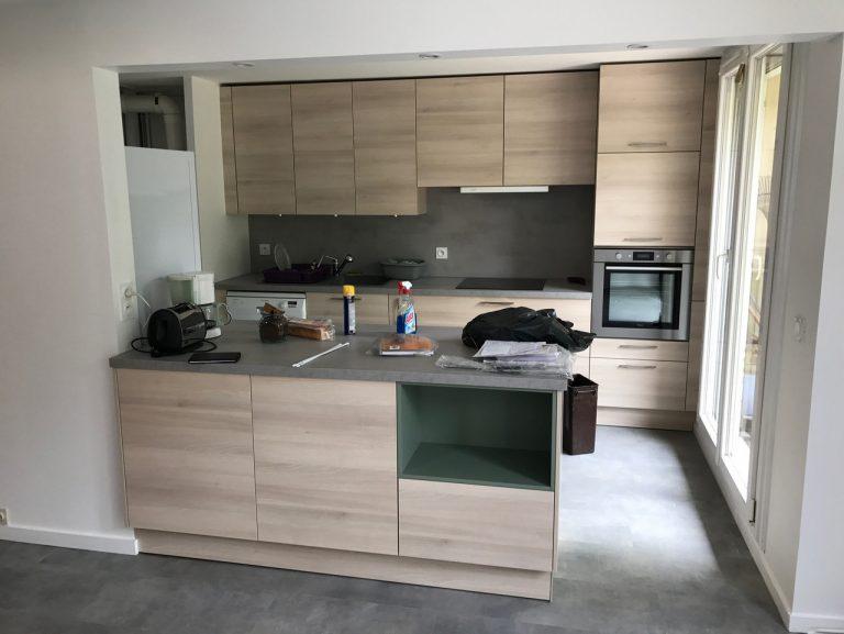 Ouverture d'une cuisine sur un salon à Torcy (77)