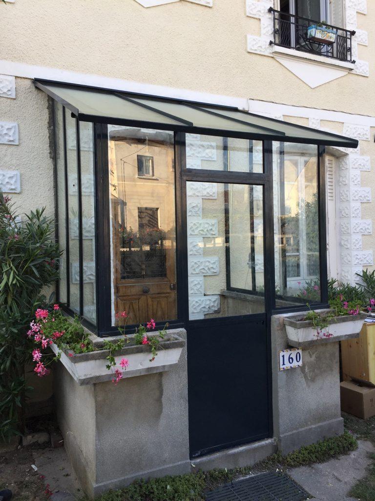 Remplacement d'une marquise par une verrière d'extérieur à Vaires-sur-Marne (77)