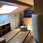 rénovation appartement sous combles à Lyon : chambre avant travaux