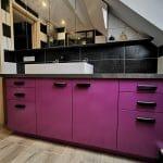 rénovation salle de bain près de Strasbourg : vasque et meuble de rangement après travaux