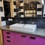 rénovation salle de bain près de Strasbourg : vasque moderne
