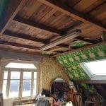 aménagement combles maison avant travaux murs plafond Lanester