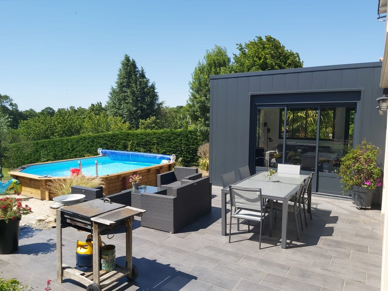 extension maison Niort - terrasse