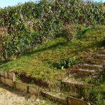 aménagement extérieur près d'Auxerre : avant pose de la clôture