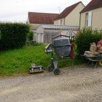 aménagement extérieur près d'Auxerre : chantier en cours