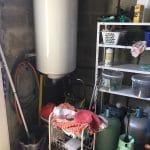 création d'une chambre dans un garage : avant travaux