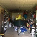 création d'une chambre dans un garage : avant travaux vue d'ensemble