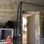 création d'une chambre dans un garage : avant travaux accès