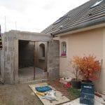 agrandissement d'une maison à Nancy : réalisation de l'ossature en parpaing