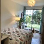 rénovation appartement chambre peinture parquet baie-vitrée Lyon 8