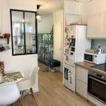 rénovation appartement verrière cuisine rénovée home staging Lyon 8