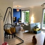 rénovation appartement séjour revêtement peinture parquet stratifié Lyon 8