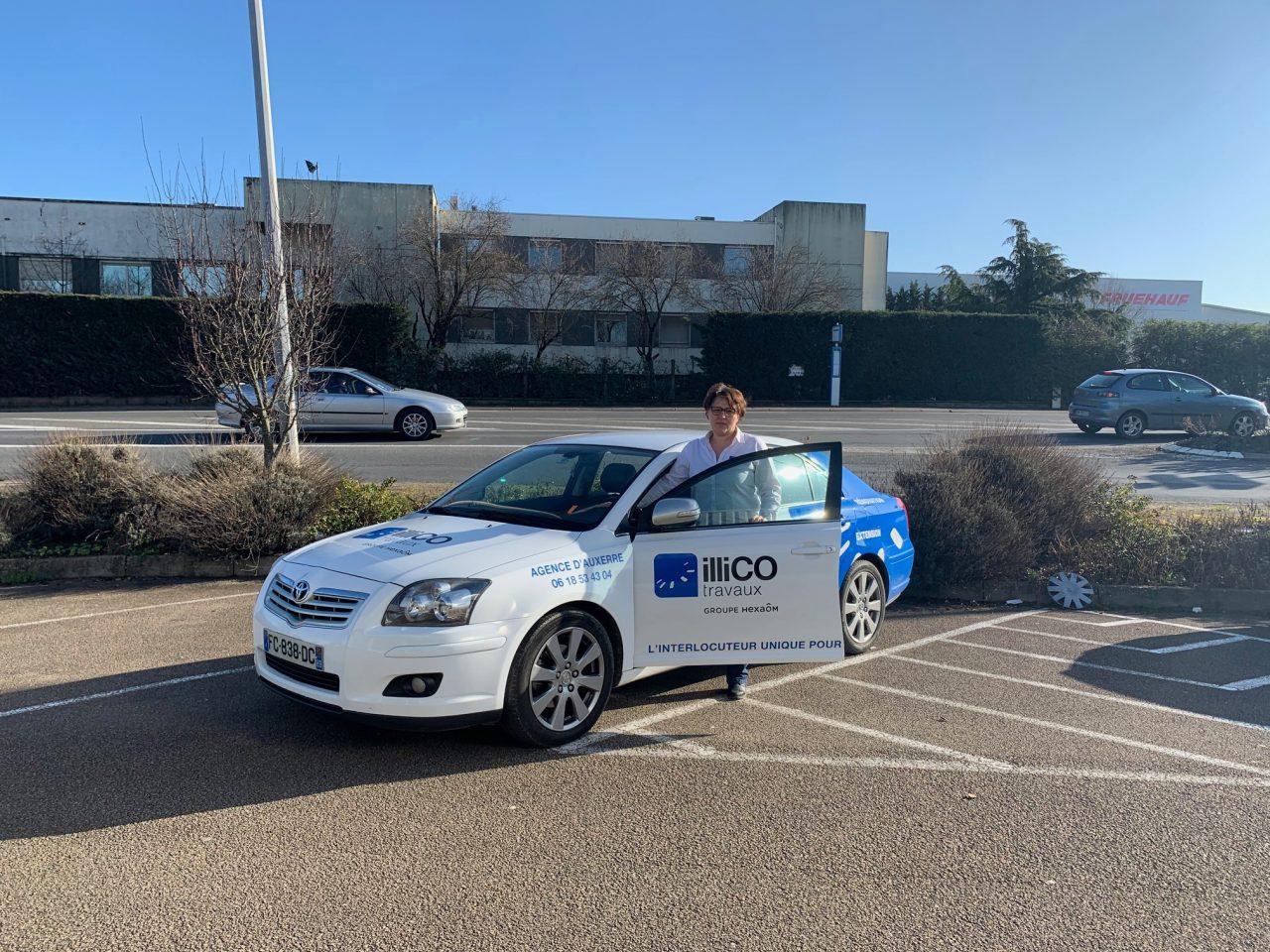 Claire Sadier responsable illiCO travaux Auxerre voiture