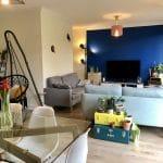rénovation appartement salon séjour parquet peinture agencement Lyon 8