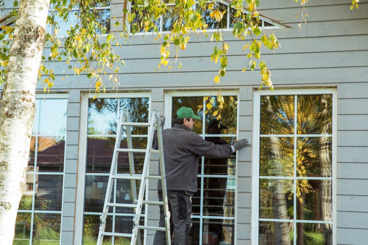 maison ossature bois en travaux