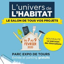 Affiche Salon L'univers de l'habitat Tours rénovation extension aménagement intérieur illico travaux