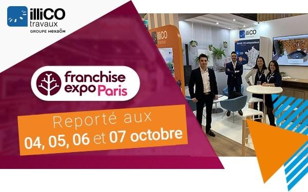 Salon Franchise Expo Paris octobre 2020 avec illiCO travaux