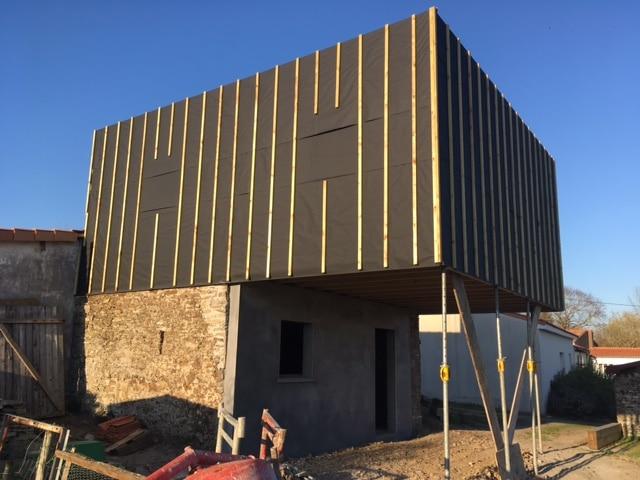 Agrandissement d'une maison à Le Loroux-Bottereau (44)