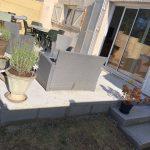 Création terrasse béton à Lormont : terrasse livrée sans carrelage