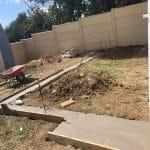 Création terrasse béton à Lormont : dalle en cours de réalisation
