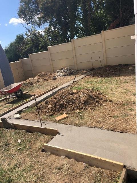 Création d'une terrasse béton à Lormont (33)